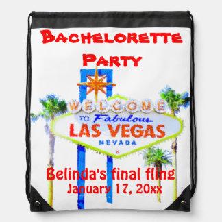 Las Vegas Bachelorette Welcome Sign Cinch Bag
