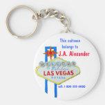 Las Vegas Bag Tags Basic Round Button Keychain