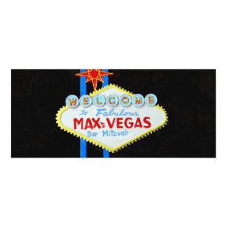 Las  Vegas Bar Mitzvah personalized invite