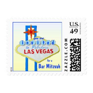 Las Vegas Bar Mitzvah Postage Stamp