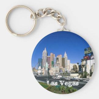 Las Vegas Basic Round Button Keychain