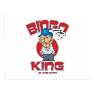 Las Vegas Bingo King Post Card