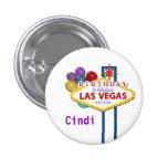 Las Vegas BIRTHDAY Button personalize with name