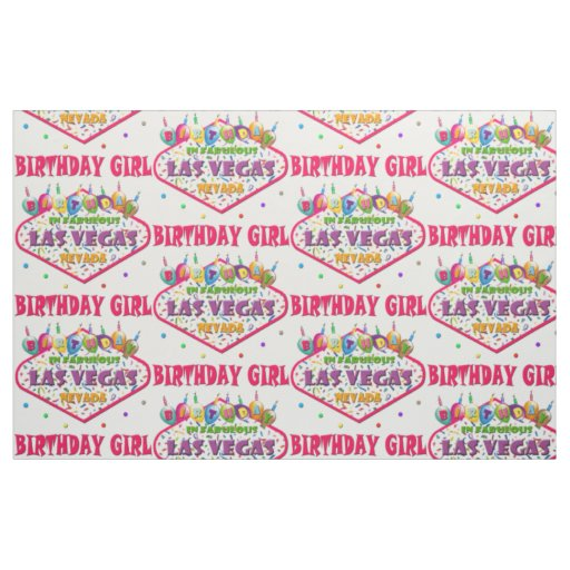Las vegas birthday girl fabric zazzle for Arts and crafts stores in las vegas