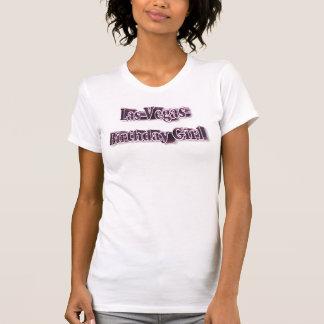 Las Vegas Birthday Girl Ladies Casual Scoop T-Shirt