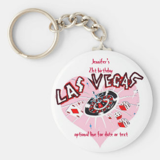 Las Vegas Birthday Party Favors Keychain