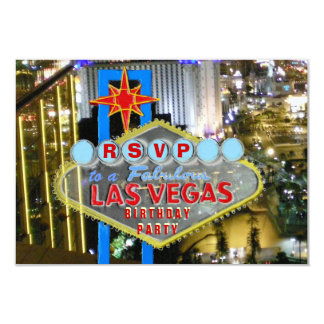 Las Vegas Birthday Party RSVP Card
