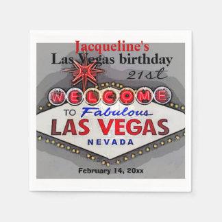 Las Vegas Birthday Party Standard Cocktail Napkin