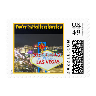 Las Vegas Birthday Sign on The Strip Postage