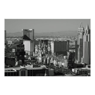 Las Vegas Black and White Photo Poster