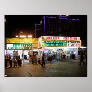 Las Vegas Blvd. Tourist Shops Poster Print