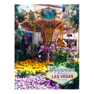 Las Vegas Botanical Garden with Welcome Sign Postcard