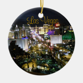 Las Vegas Boulevard Night View Ceramic Ornament