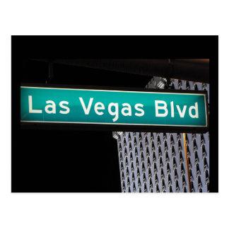 Las Vegas Boulevard Street Sign Postcards