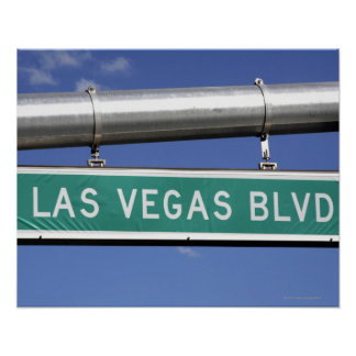 Las Vegas Boulevard street sign - The Strip
