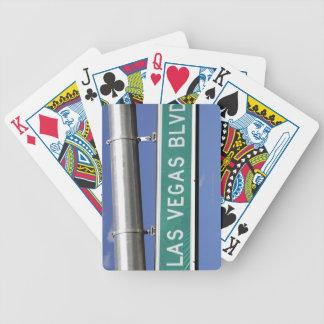 Las Vegas Boulevard street sign - The Strip Bicycle Playing Cards