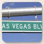 Las Vegas Boulevard street sign - The Strip Drink Coaster