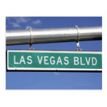 Las Vegas Boulevard street sign - The Strip Post Cards