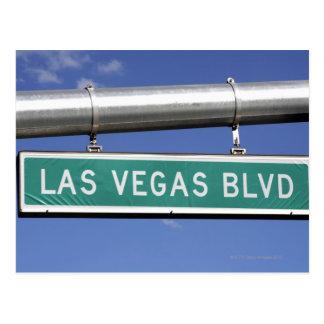 Las Vegas Boulevard street sign - The Strip Postcard