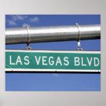 Las Vegas Boulevard street sign - The Strip Poster