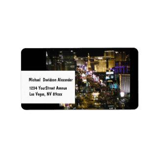 Las Vegas Boulevard Strip Photo Label