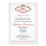 "Las Vegas Bridal Shower Invitation 5"" X 7"" Invitation Card"
