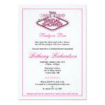 "Las Vegas Bridal Shower Invitation - Hot Pink 5"" X 7"" Invitation Card"