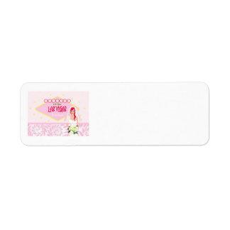 Las Vegas Bridal Shower Label