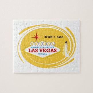 Las Vegas Bridal Shower Puzzle Game, add bride's n