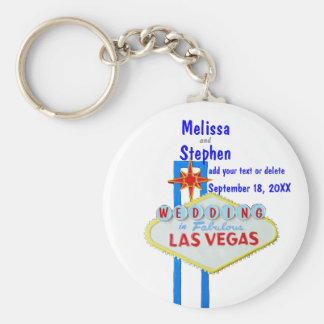 Las Vegas Bride and Groom Keychain