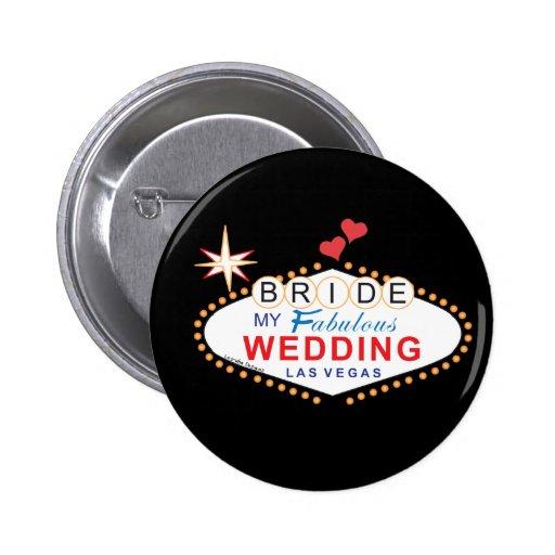 Las Vegas Bride Buttons