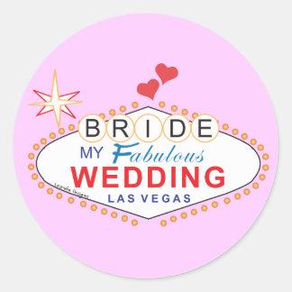 Las Vegas Bride Classic Round Sticker
