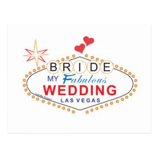 Las Vegas Bride Postcard
