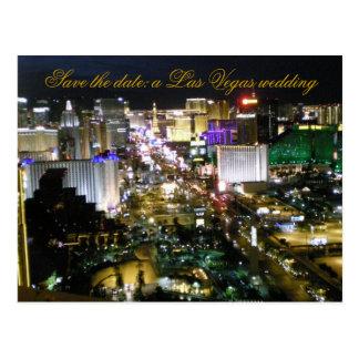 Las Vegas Brides Wedding Date Announcement Postcard