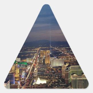 Las Vegas by Night 2 Triangle Sticker