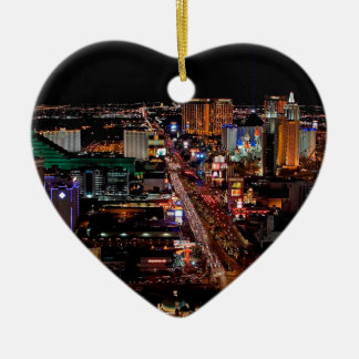 Las Vegas by Night Ceramic Ornament