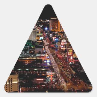 Las Vegas by Night Triangle Sticker