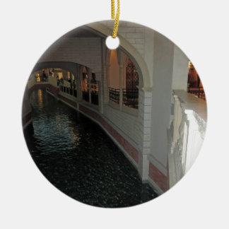LAS VEGAS Canals below Resorts Hotels Casinos City Ornament