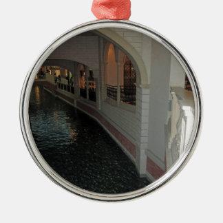 LAS VEGAS Canals below Resorts Hotels Casinos City Christmas Ornament