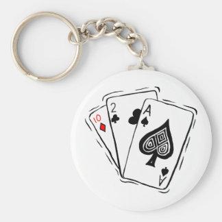 Las Vegas Card Deck Keychain