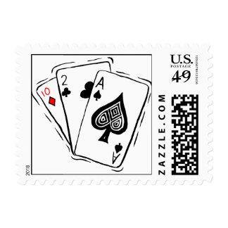 Las Vegas Card Deck Postage Stamp
