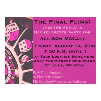 Las Vegas Casino Bachelorette Party Card