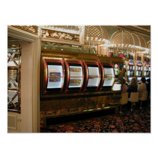 Las Vegas Casino Giant Slot Machine Poster