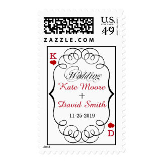 Las Vegas Casino Modern Chic Custom Wedding Postage