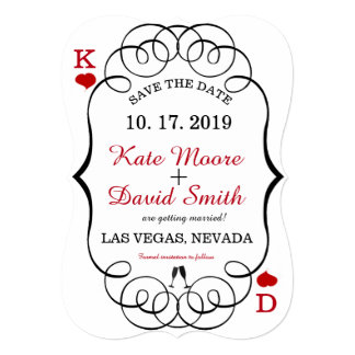 Las Vegas Casino Modern Chic Photo SAVE THE DATE Card
