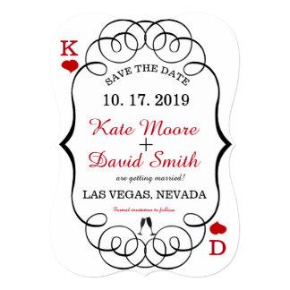 Las Vegas Casino Modern Chic Photo SAVE THE DATE Card