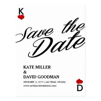 Las Vegas Casino Modern Chic Photo Save The Date Post Cards