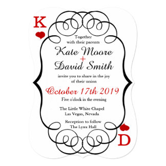 Las Vegas Casino Modern Chic Photo Wedding Invite