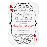 Las Vegas Casino Modern Chic Photo Wedding Invite Personalized Invites