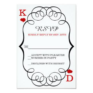 Las Vegas Casino Modern Chic Wedding RSVP Card